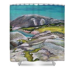 Glacial Lake Shower Curtain