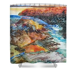 Glacial Meltdown Shower Curtain by Ruth Kamenev