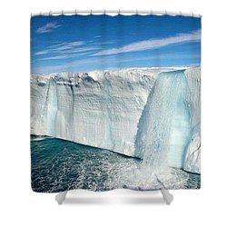Glacial Waterfalls  Shower Curtain