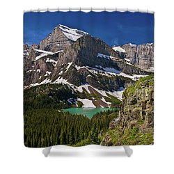 Shower Curtain featuring the photograph Glacier Backcountry 2 by Gary Lengyel