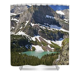 Shower Curtain featuring the photograph Glacier Backcountry by Gary Lengyel