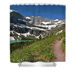 Shower Curtain featuring the photograph Glacier Backcountry Trail by Gary Lengyel