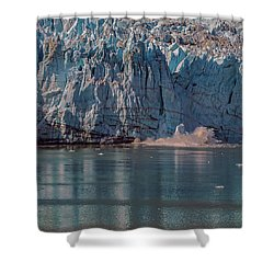 Shower Curtain featuring the photograph Glacier Bay Ice Calving by Brenda Jacobs