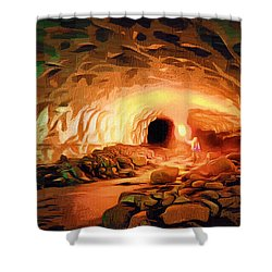 Glacier Caves Shower Curtain by Mario Carini