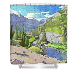 Glacier Gorge Shower Curtain