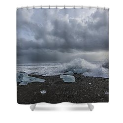 Glacier Ice 2 Shower Curtain