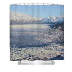 Shower Curtain featuring the photograph Glacier In Alaska by Jingjits Photography