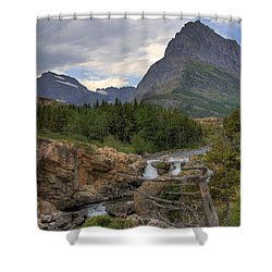 Glacier National Park Landscape Shower Curtain
