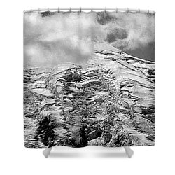 Shower Curtain featuring the photograph Glacier On Mt Rainier by Lori Seaman
