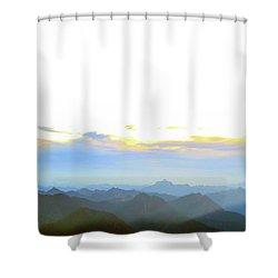 Glacier Peak At Sunrise Shower Curtain