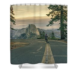 Glacier Point Adventure Shower Curtain