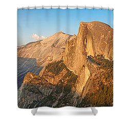 Glacier Point Panorama Shower Curtain