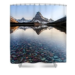 Glacier Skittles Shower Curtain by Aaron Aldrich