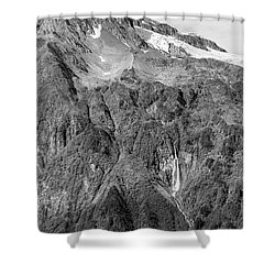 Glacier Waterfall Shower Curtain