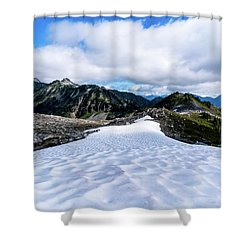 Glaciers At North Cascades Shower Curtain