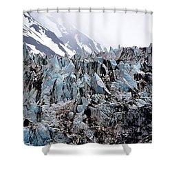 Glaciers Closeup - Alaska Shower Curtain