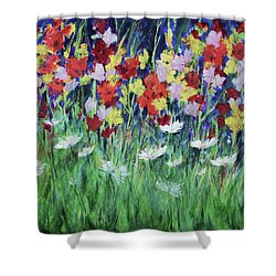 Glad All Over Shower Curtain by Lee Beuther