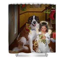 Glad Tidings Shower Curtain