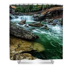 Glade Creek And Grist Mill Shower Curtain