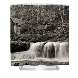 Glade Creek Grist Mill Monochrome Shower Curtain