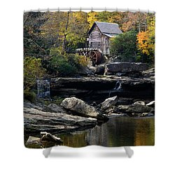 Shower Curtain featuring the photograph Glade Creek Grist Mill - D009975 by Daniel Dempster