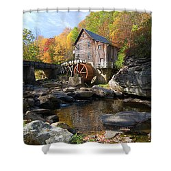 Shower Curtain featuring the photograph Glade Creek Grist Mill by Steve Stuller