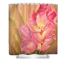 Gladiolas Shower Curtain by Sherril Porter