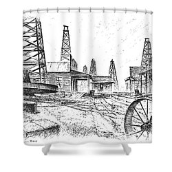 Gladys City Shower Curtain