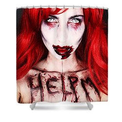 Glam Zombie Shower Curtain