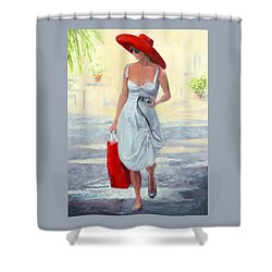 Glamour On A Stroll Shower Curtain