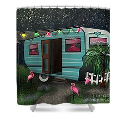 Glamping Shower Curtain