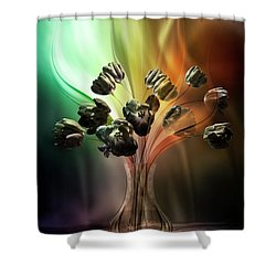 Glasblower's Tulips Shower Curtain