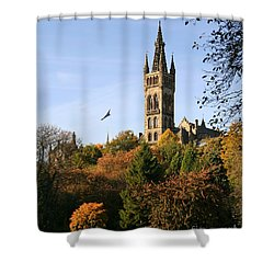 Glasgow University Shower Curtain by Liz Leyden
