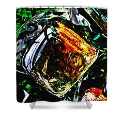 Glass Abstract 160 Shower Curtain by Sarah Loft