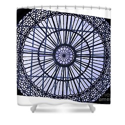 Shower Curtain featuring the photograph Glass Ceiling by Mini Arora