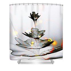Shower Curtain featuring the mixed media Glass Flower by Anastasiya Malakhova