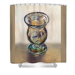 Glass Goblet Shower Curtain
