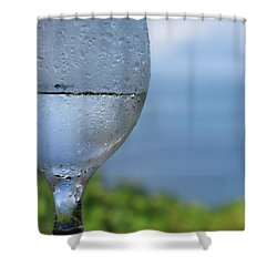 Shower Curtain featuring the photograph Glass Half Full by JoAnn Lense
