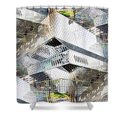 Glass House Shower Curtain by Tim Allen