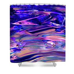 Glass Macro Xvi Shower Curtain by David Patterson