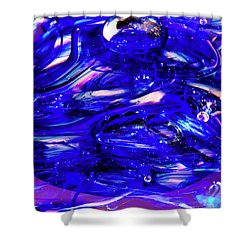 Glass Macro Xvii Shower Curtain by David Patterson