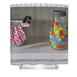 Shower Curtain featuring the photograph Glass Marbles From Childhood by Nancy Lee Moran