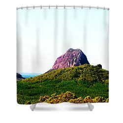 Glass Mountains - Extinct Volcanos Shower Curtain by Susan Vineyard