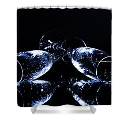 Glass Of Shampagne Shower Curtain
