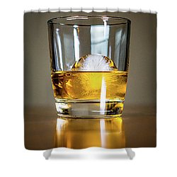 Glass Of Whisky Shower Curtain