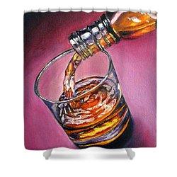 Glass Of Wine Original Oil Painting Shower Curtain by Natalja Picugina