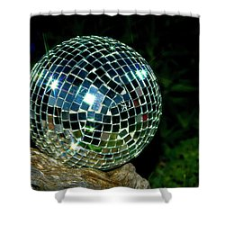 Shower Curtain featuring the photograph Glass On Wood by Albert Seger