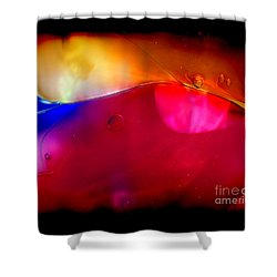 Glass Paint Abstract Dark Shower Curtain