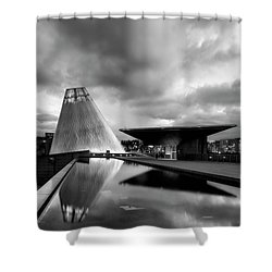 Glass Shower Curtain by Ryan Manuel