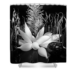 Glass Sculpture Shower Curtain